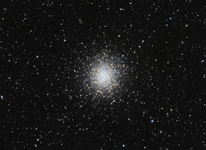 Globular cluster Messier 14 lies in the constellation Ophiuchus the Serpent-bearer.