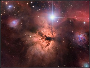 The Flame Nebula (NGC 2024) is an emission nebula in the constellation Orion the Hunter.
