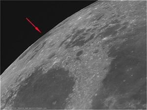 Mare Marginis is a lunar sea that lies on the edge of the lunar nearside.