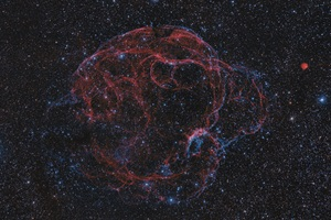 The Spaghetti Nebula, also known as Simeis 147 or Sharpless 2–240, is a supernova remnant in the constellation Taurus the Bull.