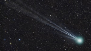 Comet Lovejoy (C/2014 Q2) displayed a colorful coma and a beautiful multiple tail in early February 2015.