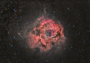 The Rosette Nebula lies in the constellation Monoceros the Unicorn only 5,200 light-years distant.