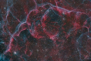 The Vela supernova remnant is the result of an exploding star whose light reached Earth around 11,000 years ago.