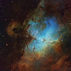 The Eagle Nebula (M16) is an emission nebula in the constellation Serpens.