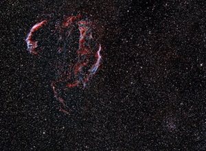Veil Nebula complex and open cluster NGC 6940