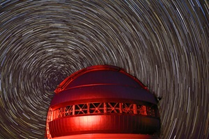 Star trails above Gemini