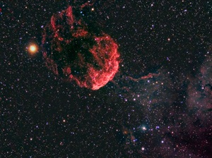 The Jellyfish Nebula (IC 443) is a supernova remnant in the constellation Gemini the Twins.