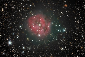 The Cocoon Nebula (IC 5146) is a combination emission and reflection nebula in the constellation Cygnus the Swan.