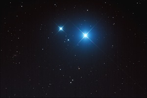 Mizar (Zeta Ursae Majoris) and Alcor (80 Ursae Majoris) make up probably the sky's most famous double star.