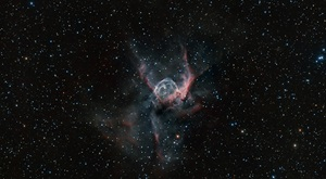Thor's Helmet (NGC 2359) is an emission nebula in the constellation Canis Major the Great Dog.
