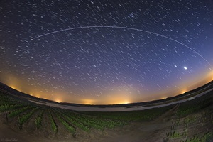 The International Space Station above vineyards in Portugal