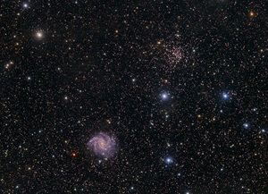 Spiral NGC 6946 and open cluster NGC 6939