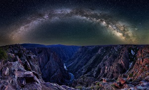 The Milky Way above Pulpit Rock in Gunnison National Park