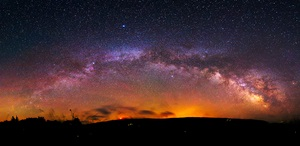 The summer Milky Way above West Virginia