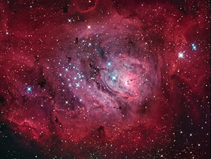 The Lagoon Nebula in Sagittarius