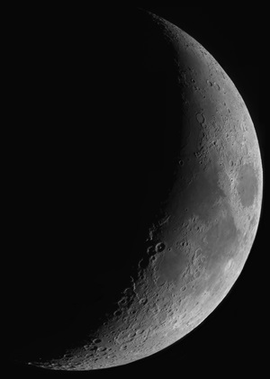 The waxing crescent Moon on 4 December 2016