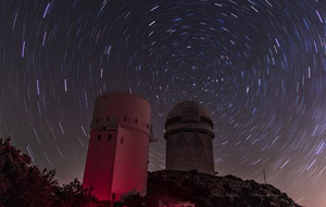The sky above Kitt Peak National Observatory