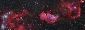 Thirteen image mosaic from van den Bergh 15 to the Heart Nebula