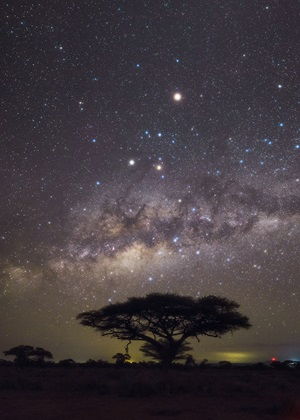 The Milky Way rises in Kenya