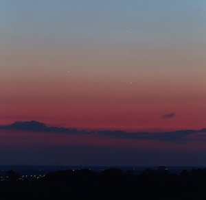 Jupiter plus Mercury and Venus in 2013