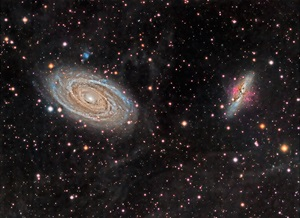 M81 and M82 plus the Integrated Flux Nebula