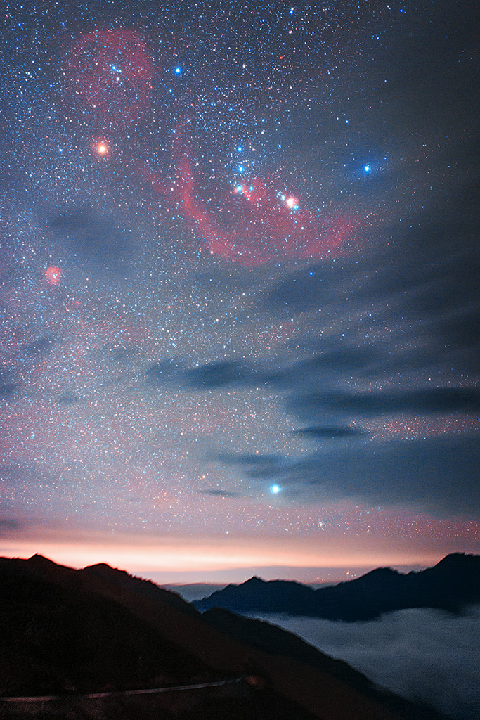 A deep Orion over Sichuan