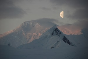 The Moon above Antarctica