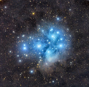A deep shot of the Pleiades