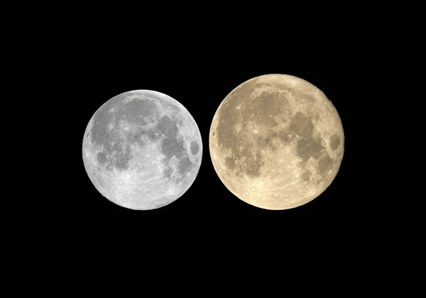 Comparing the Moon at apogee vs. perigee