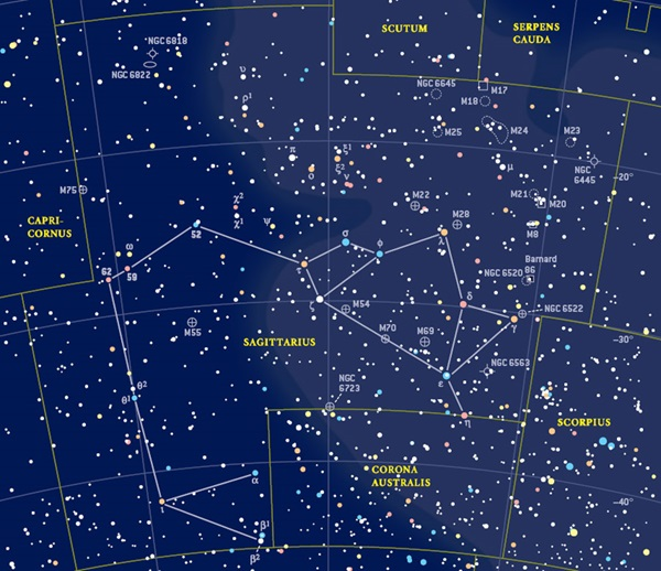 ... Map besides Sky Star Chart Constellations Map. on sky map sagittarius