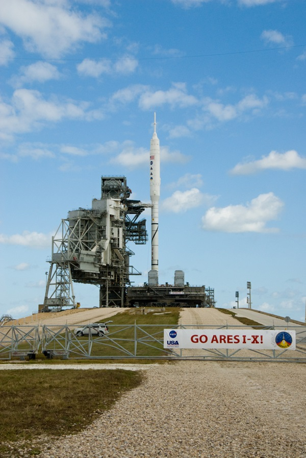 Ares I-X launch pad