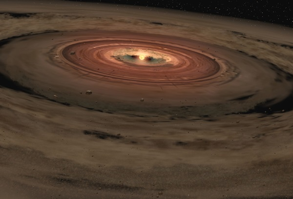 A brown dwarf's protoplanetary disk