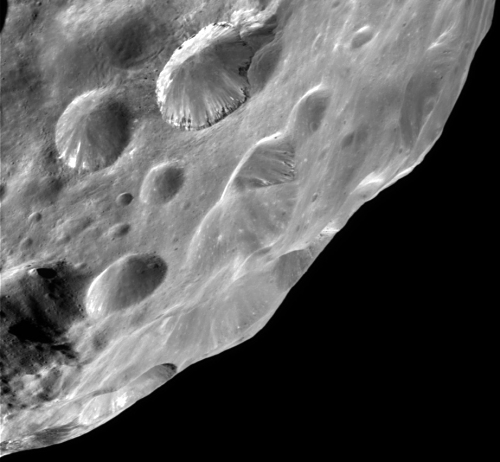 Phoebe layered crater