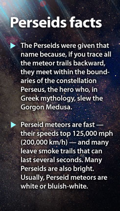 Perseid meteor shower facts
