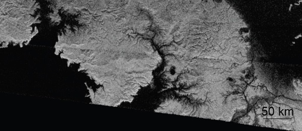 Titan north polar region
