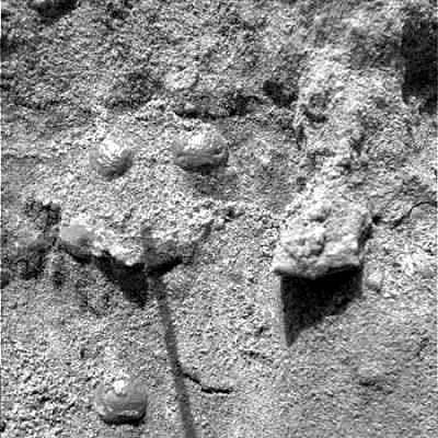 View of martian soil by Opportunity