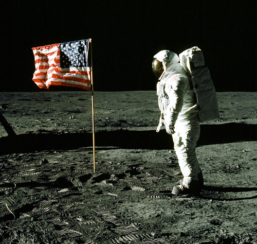 U.S. flag on Moon