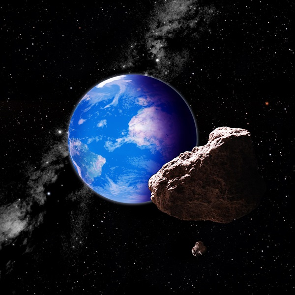 Artist concept of asteroid
