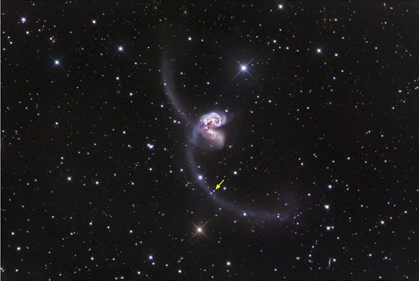 Antennae galaxies supernova