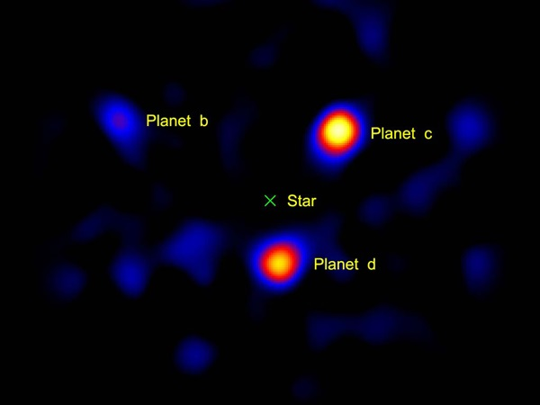 HR8799 exoplanet imaging
