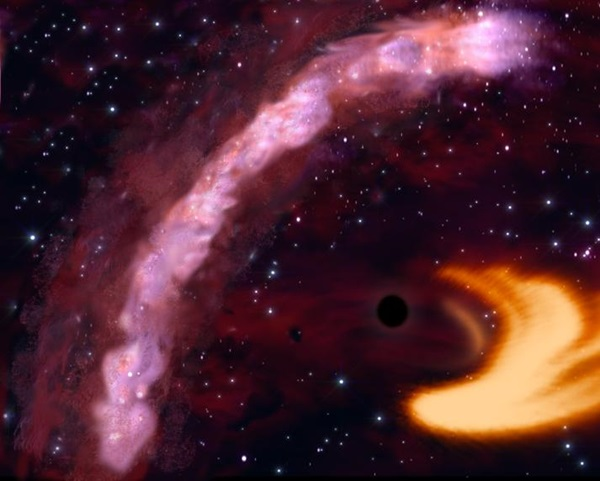 light echo from a black hole
