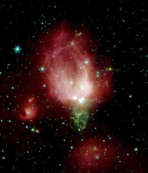NGC 7129 in the infrared