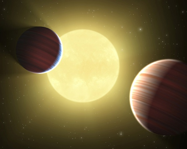 Two planets transiting same star