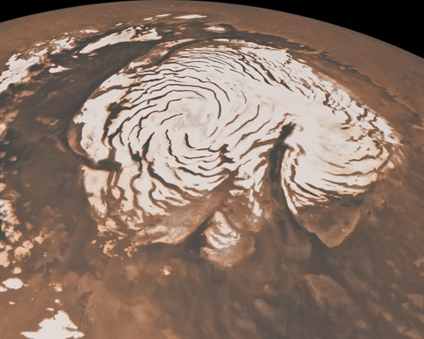 Mars' north polar region