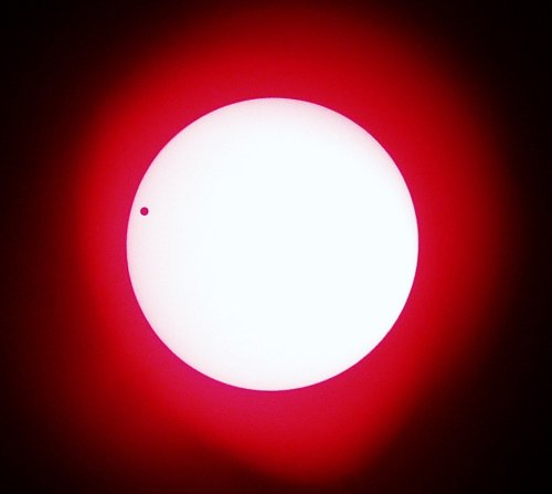 Transit of Venus as seen from Greece