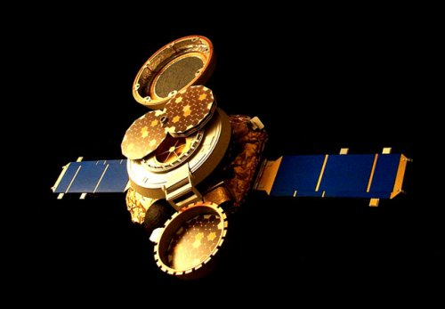 Genesis spacecraft in collection mode