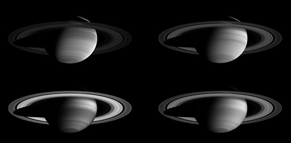 Saturn in four wavelengths