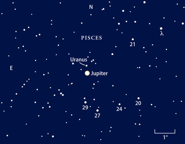 June 2010 Jupiter finder chart