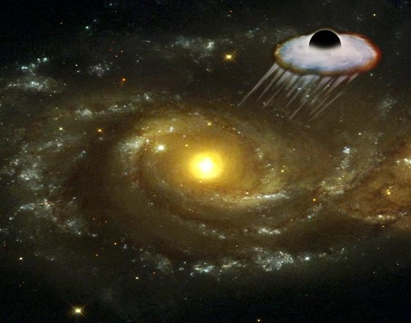 black hole ejected from galaxy