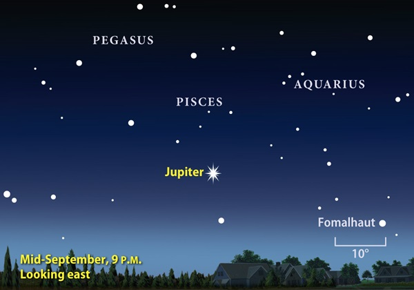 September 2010 Jupiter shines
